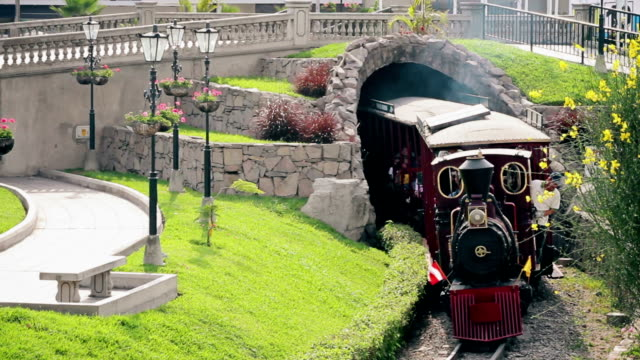 Old train coming from a tunnel video