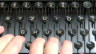 Old Typewriter in Action video