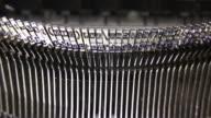 HD Old typewriter typebar movement (loopable) video