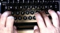 HD: old typewriter video