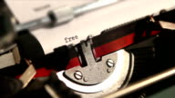 old typewriter write the word free video