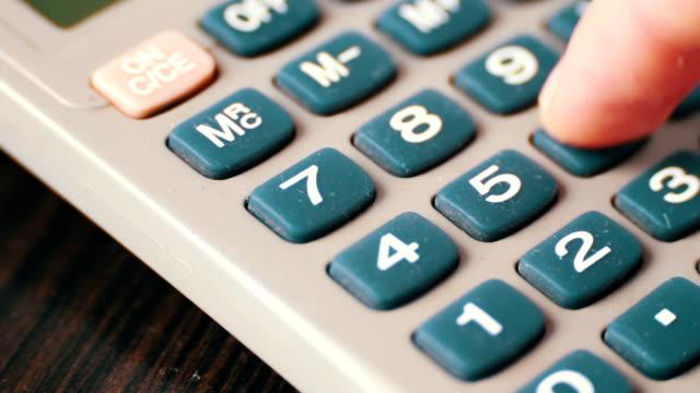 Old vintage calculator video