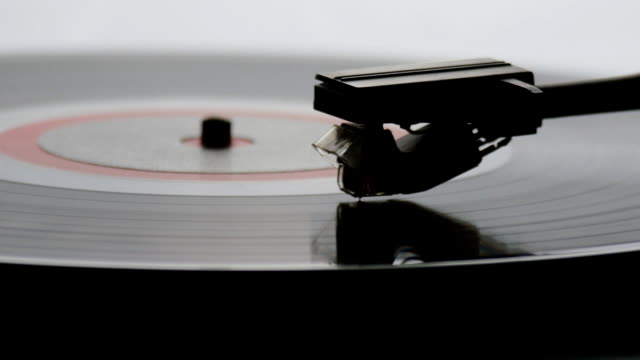 Old vintage gramophone playing lp vinyl record video