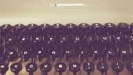 Old vintage italian typewriter video