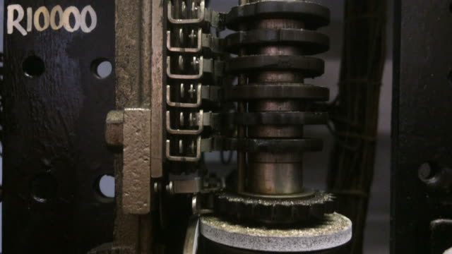 Old vintage telephone switchboard video