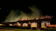 old warehouse burning video