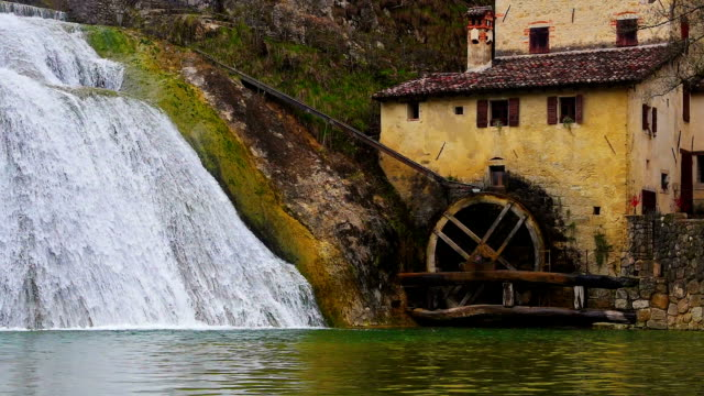 Old watermill. video