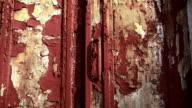 Old weathered wooden door video