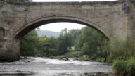 Old Welsh Bridge Over The River Dee video