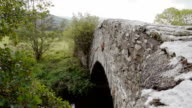 Old Welsh Stone Bridge In The Welsh Countryside video