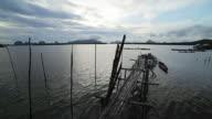 Old wooden bridge video