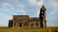 old wooden church ruins video