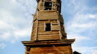 old wooden church with a bell tower video