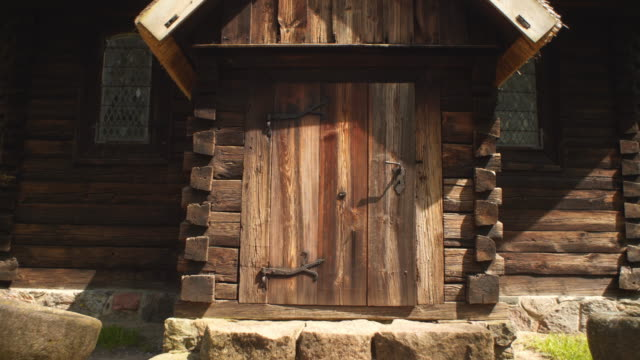 Old wooden door video