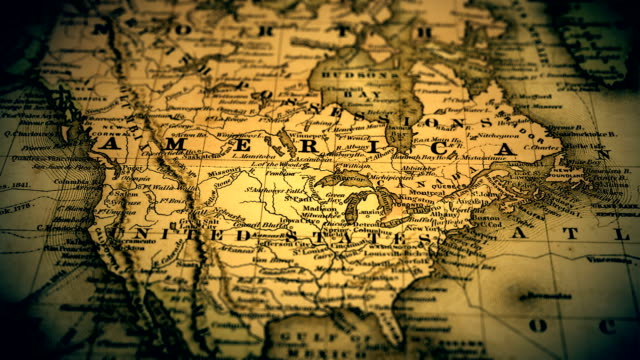 Old Maps Of The World HD Video K BRoll IStock - Old us map and pics