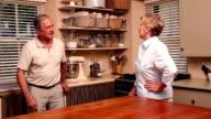 Older couple having an argument video