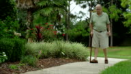 Older Man With Cane video