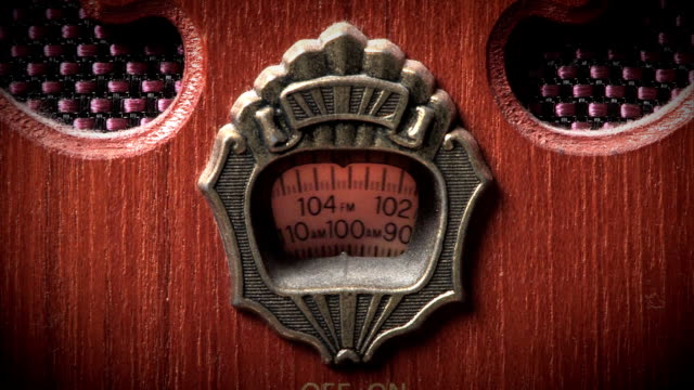 Old-Fashioned Radio Close Up video