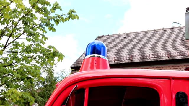 Oldtimer fire truck video