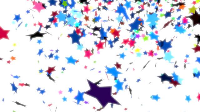 Сolorful stars falling video