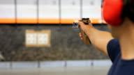 Olympic style gun shooting video