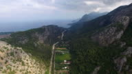 Olympos Mountain, Clouds and Sea. Captured in Antalya Turkey video