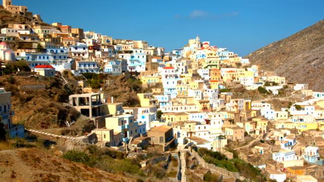 Olympos village on Karpathos island, Greece video