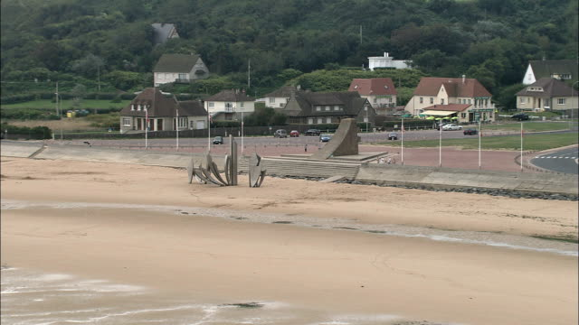 Omaha Beach  - Aerial View - Lower Normandy, Calvados, France video