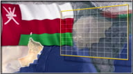 Oman flag and map animation video