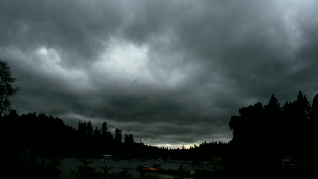 Ominous skies over Port Madison (time-lapse) video