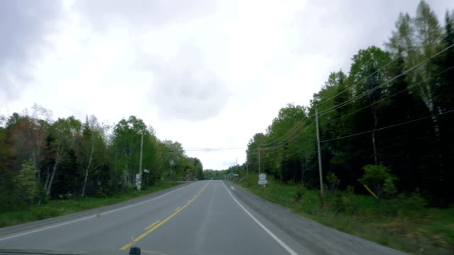 On a Cloudy Canadian Country Road in Southern Ontario video