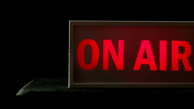 On air Studio TV / Radio station sign - DOLLY video