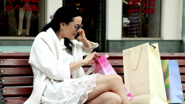 On Cell Phone About Shopping video