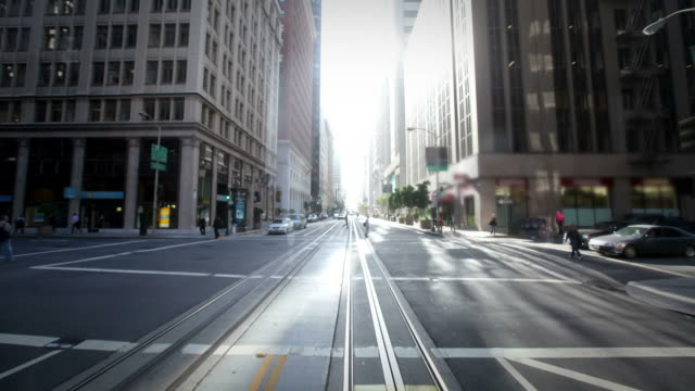 POV on San Francisco cable car video
