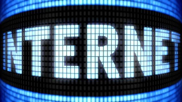 'INTERNET' on screen. Looping. video