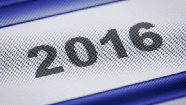 '2016' on the screen video