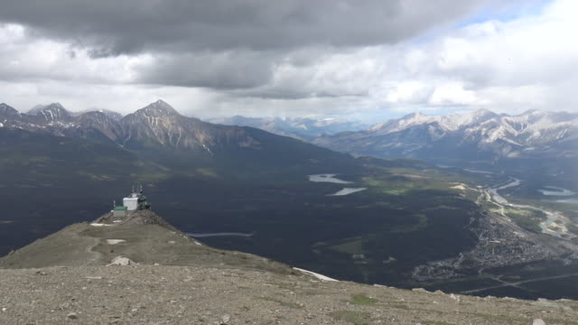 On the summit of Whistlers Mountain in British Columbia video
