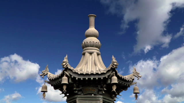 On the territory Giant Wild Goose Pagoda or Big Wild Goose Pagoda, is a Buddhist pagoda located in southern Xian (Sian, Xi'an), Shaanxi province, China video