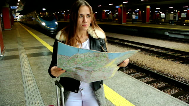 on the train station video