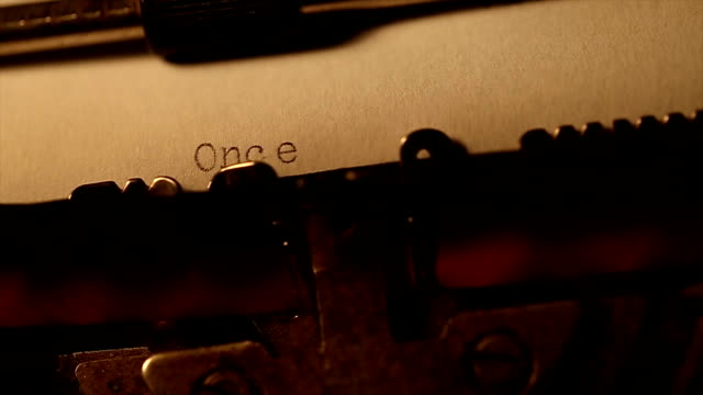 'Once upon a time' typed using an old typewriter video