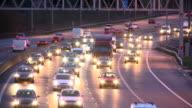 Oncoming motorway headlights video
