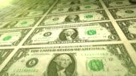 One Dollar Bills looping. HD video