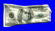 One Hundred Dollar Bill Flag Waving in The Wind video