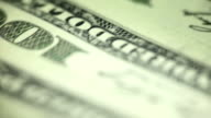 One hundred dollar bills background video