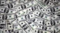 One Hundred Dollar Bills Falling Through Air video