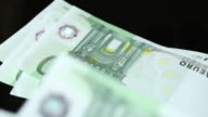 One Hundred Euro Banknotes video