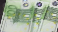 One hundred euro bills - Money video