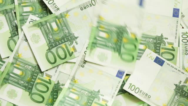 One hundred euro bills video