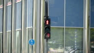 One of the traffic lights in the streets of Tartu video