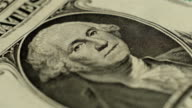 One rotating dollar bill. Macro video